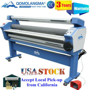 Us Stock 110v 63inch Wide Format Cold Laminator Laminationg And Mounting Machine
