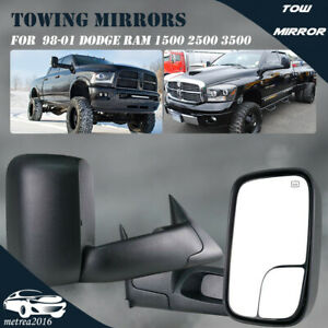 1998 2001 Fits Dodge Ram 1500 2500 3500 Power Heated Pair L r Tow Mirrors