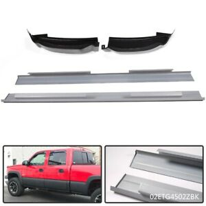 For 2001 07 Crew Cab Chevy Silverado Slip On Rocker Panels Cab Corners Lh Rh