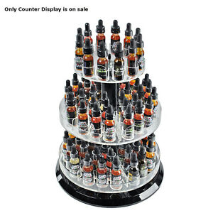 Three Tier Counter Revolving Tester Display 11 Dia X 13 5 H