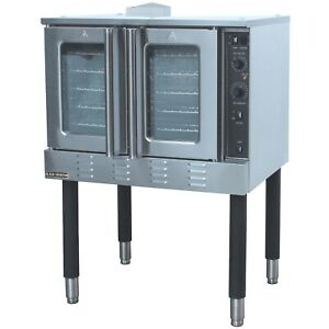 Commercial Kitchen Full Size Gas Convection Oven Single Deck