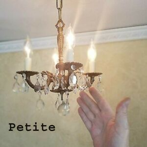 631b Vintage Antique French Ceiling Light Lamp Fixture Chandelier
