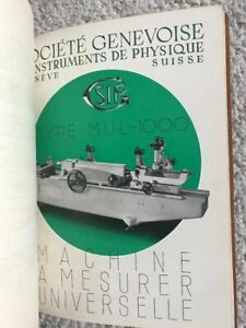 Sip Mul 1000 Universal Measuring Machine Technical Instructions Manual In French