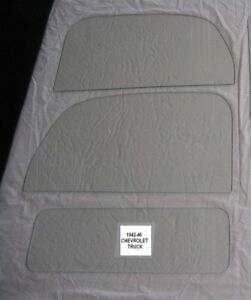 1938 Chevrolet gmc Truck Glass Pick Up Door Glass And Back Glass Clear New