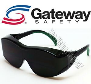 Gateway Cover2 Otg Ir5 Green Welding Safety Glasses Fit Over Most Gas Torch Cut