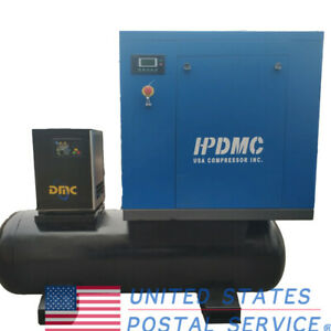 New 230v 20 Hp Rotary Screw Air Compressor Air dryer 3 Phase electrical W Tank