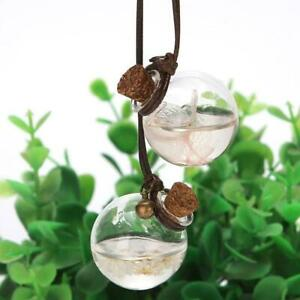 Car Interior Decor Clear Glass Perfume Flower Pendant Hanging Ornament Accessory