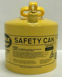 Eagle Diesel Transportation Storage Safety Can 5 Gallon Ui 50 sy Yellow