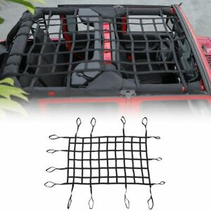 Multifunctional Roof Net Bikini Soft Top Cover Sunshade For 07 Jeep Wrangler Jk