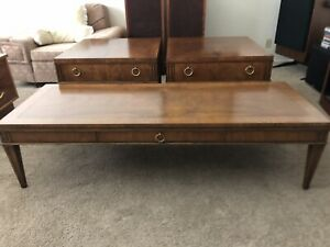 Baker Furniture Vintage Mid Century Modern End Table S Coffee Table