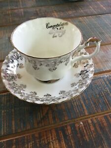 English Tea Cup And Saucer Royal Albert 25th Anniversary