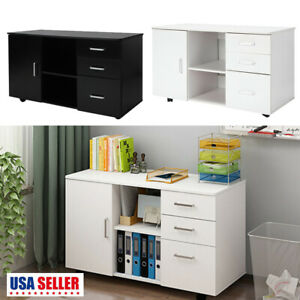 3 drawer 1 Door Storage Mobile Rolling File Cabinet Drawer W casters Home Office