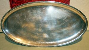 Christofle French Large Silver Plated Oval Tray Charger 14 3 8 X 7 7 8 Stamp