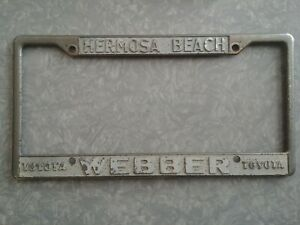 Vintage Webber Toyota Hermosa Beach California Dealership License Plate Frame