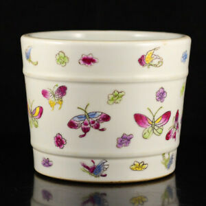 Superb Hand Painted Chinese Famille Rose Porcelain Brush Washer