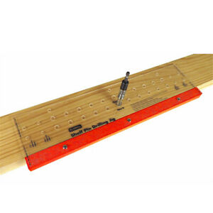 Shelf Pin Drilling Jig With 1 4 Inch Self Centering Bit 11 Holes 19 Inch Long To