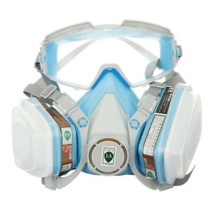 Silicone Full Face Respirator Gas Mask Goggles Particulate Chemical Dustproof