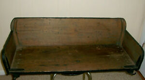 Antique Primitive Horse Drawn Buggy Wagon Carriage Bench Seat