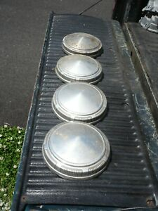 Mopar Dog Dish Hubcaps 1960s 1970s Three Aluminum 9 One Stainless Free Ship