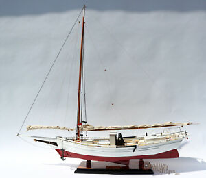 Chesapeake Skipjack Oyster Sailboat Model Handcrafted Model Display Ready 34