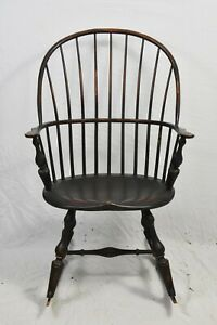 D R Dimes Windsor Chair Bow Back Rocking Chair Armchair Williamsburg Style