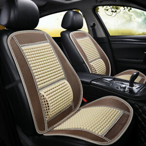 Car Seat Protectorsuv Ice Silk Cushion Cool Pad Massage Breathable Wooden Beads