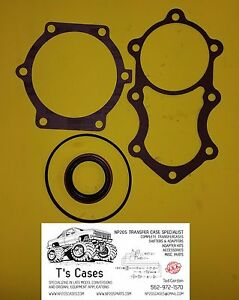 New Np205 Transfer Case Turbo 400 Adapter Gasket seal Kit W Square O ring 4l80e