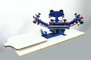 Professional Screen Printing For Diy T shirt Micro adjust Table 4 Color 1station