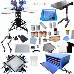 4 4 Color Full Set Kit Screen Printing Combination Package Diy Commercial Used