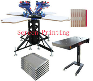 Professional 4 4 Screen Press Flash Dryer Package T shirt Press Equipment Best