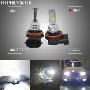 New H11 H8 H9 Led Headlight Bulbs Kit High Low Beam Lamp 35w 4000lm 6000k White