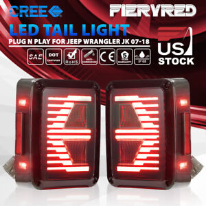 Led Tail Lights W Reverse Light Turn Signal Lamps For Jeep Wrangler Jk 07 17