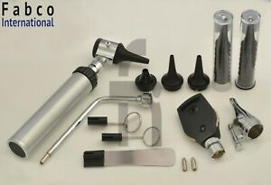 Ent ear nose throat Diagnostic Otoscope Ophthalmoscope Set With Hardcase
