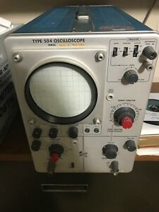 Tektronix 504 Oscillator Tube Type As Is For Parts Or Repair