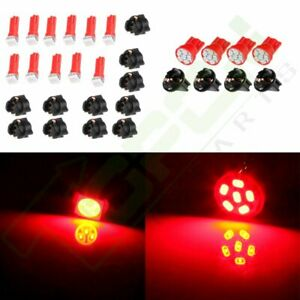 Red T10 T5 Led Lights Instrument Panel Cluster Dash For 91 96 Jeep Cherokee