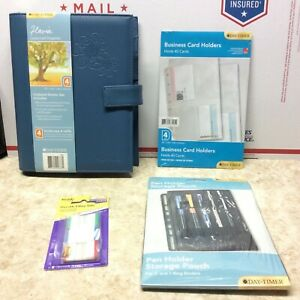 New With Tags Day timer Blue Flavia Planner Retired Plus Extras