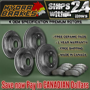Fits 2003 2004 Ford Expedition 4wd Oe Blank Brake Rotors Ceramic