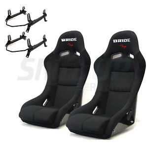 Bride Vios 3 Iii Black Low Max Pair Seats Low Down Rail Nissan Infiniti 350z G35