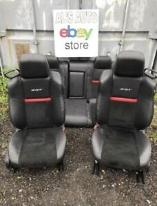 11 14 Dodge Challenger Srt8 Black Leather Suede Seats Full Set Oem