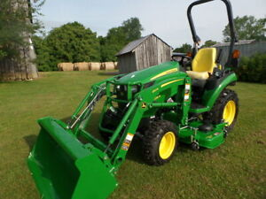 John Deere 2025r 2018 4wd W Loader And Belly Mwr 2hrs And Warranty