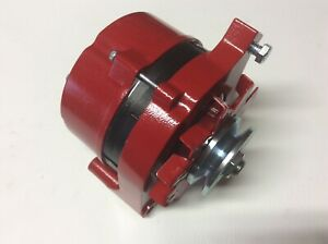 1965 85 Ford Bronco 100 Amp High Output Alternator Powdercoated Red