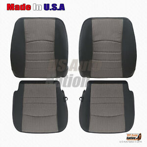 2009 2010 2011 2012 Dodge Ram Front Cloth Seat Replacement Covers Dark Gray V3