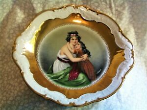 Beautiful Vintage 12 Lebrun Daughter Portrait Plate Charger