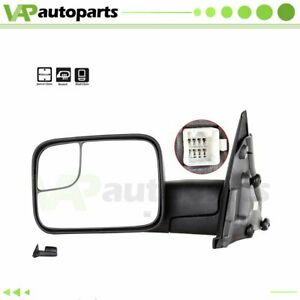 Fits 02 08 Dodge Ram 1500 2500 3500 Tow Power Heated Driver Side View Mirror