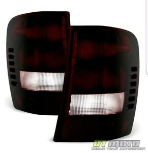 1999 2004 Jeep Grand Cherokee Red Smoke Rear Tail Lights Brake Lamps Left Right