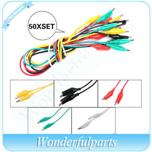 500pcs Double Ended Crocodile Clip Cable Alligator Clips Wire Testing New