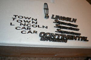 Lincoln Towncar Continental Signature 32v Emblems Badges Decals Hood Ornament
