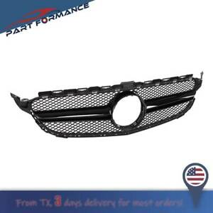 Fit Mercedes Benz C Class W205 C200 C250 15 18 Amg Style Front Grill Mesh Grille