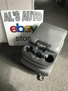 13 17 Dodge Ram Center Console Jump Seat Cup Holder Gray Leather Oem