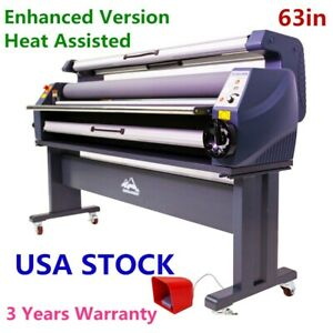 63in Enhanced Heat Assisted Cold Laminator Wide Format Laminating Machine
